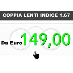 Coppia lenti indice 1.67