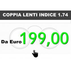 Coppia lenti indice 1.74